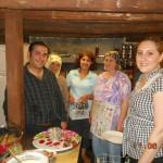 Pächterfamilie im Projekthaus
